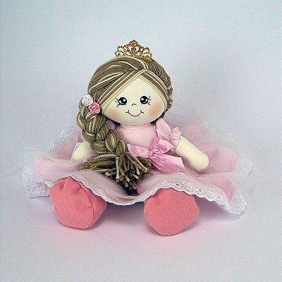 Bonecas De Pano Princesa Vestido Rosa Média