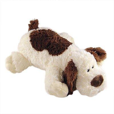 Cachorro de Pelúcia Deitado Pibu Marrom Grande
