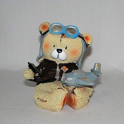 Urso de Resina Aviador