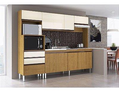 Cozinha compacta 10 portas e 3 gavetas - Creta - Casamia