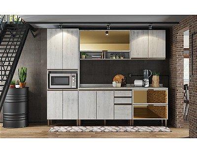 Cozinha modulada 6 peças 100% MDF  Itália - Casamia