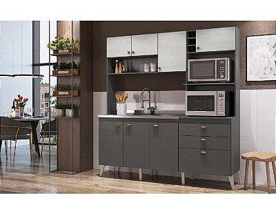 Cozinha compacta 8 portas e 2 gavetas - Donna - Casamia