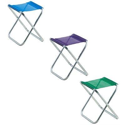 Kit com 3 Banquetas em Alumínio 1 Azul | 1 Verde |  1 Lilás