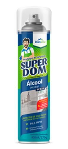 Álcool Spray 66,6% Inpm Limpeza - Super Dom 400ml