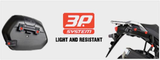 Baús Laterais com Suporte 3P System