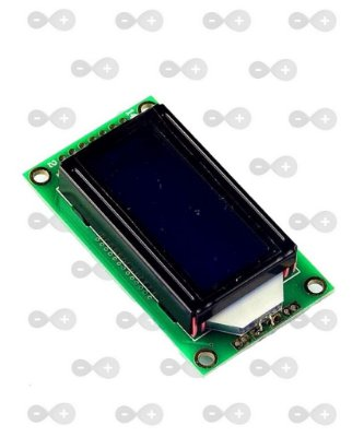 DISPLAY LCD 8X2 COM BACKLIGHT PARA ARDUINO VERDE