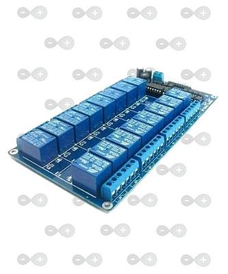 Módulo Relé 12V 10A 16 canais com Optoacoplador