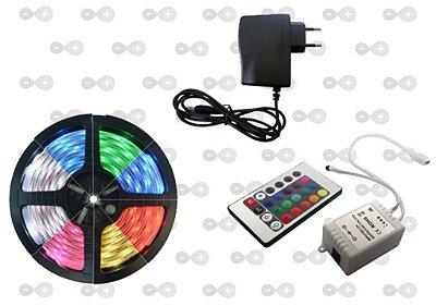 KIT FITA DE LED 5050 + DRIVER RGB + FONTE 12V