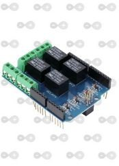 Modulo Shield Com Relé Com Relé 4 Canais Para Arduino