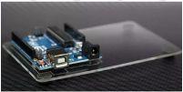 Base Acrílica Para Fixar Placa Arduino Uno E Protodoard