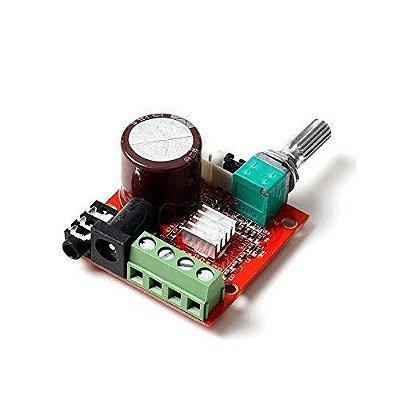 Amplificador De Áudio PAM8610 Dual D Class HI-FI 2x10W 12V