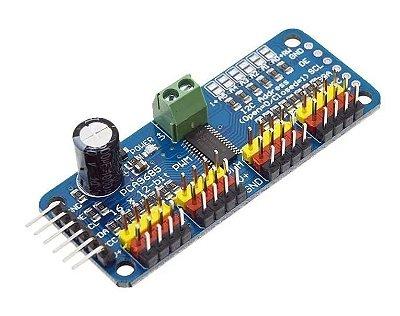 Controlador PWM / Servo Driver 16 Canais I2C PCA9685 Para Arduino