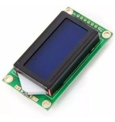 Display Lcd 8x2 Com Backlight Azul Para Arduino