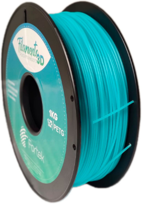 Filamento Pet-g 1,75 Mm 1kg - Azul Brilhante (Glowing Blue)