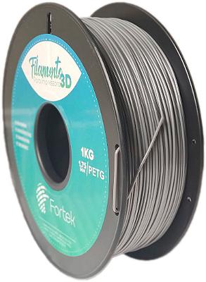 Filamento Pet-g 1,75 Mm 1kg - Prata (Silver)