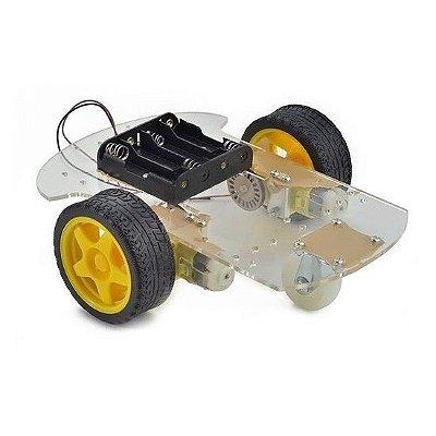 Kit Chassi 2WD Rodas Robô Para Arduino Diy