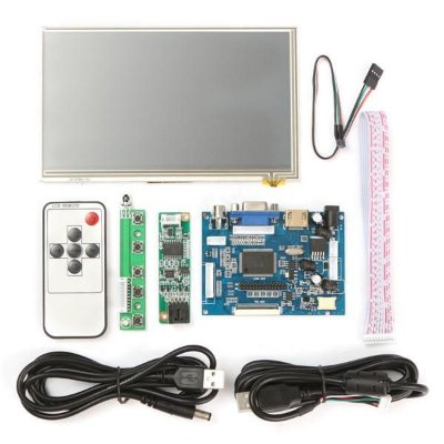 Kit Tela Lcd Touch Screen 7 Polegada 1024x600 Para Raspberry