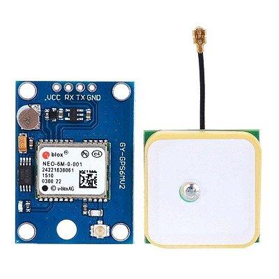 Módulo GPS GY-NEO6MV2 Com Antena Para Arduino e Raspberry PI