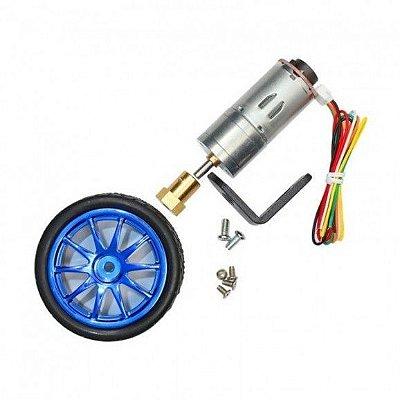 Motor Dc 6V Com Redução 280RPM Encoder e Roda