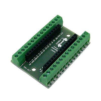 Placa Borne Para Arduino Nano, Terminais Parafuso
