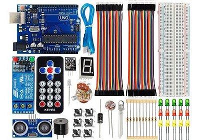 Kit Uno R3 Básico Iniciante Completo + Brinde Compatível com Arduino