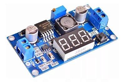 Regulador De Tensão Ajustável LM2596 Dc-dc Step-down Com Voltímetro