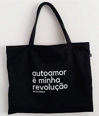 Sacola Retornável (ecobag) Autoamor é minha revolução