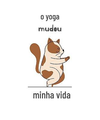 O yoga mudou minha vida| t-shirt ou babylook