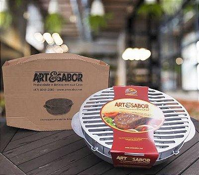 Churrasqueira portátil em aluminio fundido - Art & Sabor