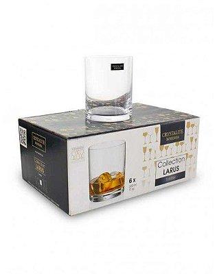 Jogo com 06 copos para whisky  320ml- larus/bohemia