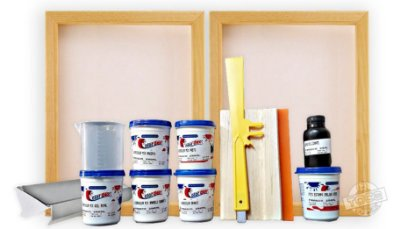 Kit Basicão Curso Toca do Silk - Serigrafia em Tecidos