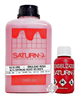 Kit Emulsão Base Solvente Saturno Rosa Alta Definição + Sensibilizante