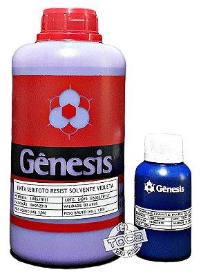 Emulsão Serifoto Violeta Base Solvente Gênesis + Sensibilizante Bicromato