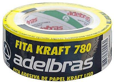 Fita Adesiva Kraft Lisa Adelbras 48mm x 50m