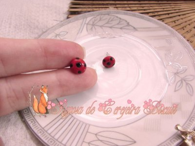 Brincos Lady Bug