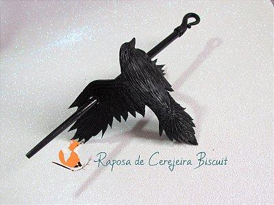 Corvo Negro - Presilha para Cabelo