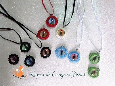 Colar Olhos de Dragões - Vários Elementos