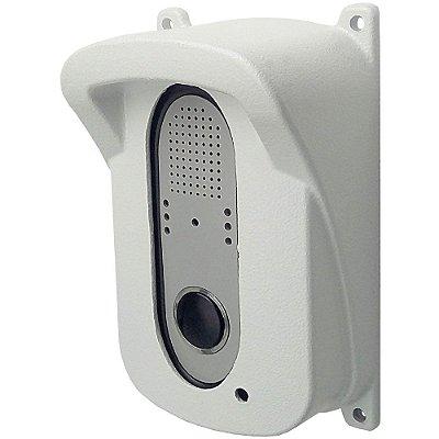 Protetor antivandalismo de alumínio para interfone Branco