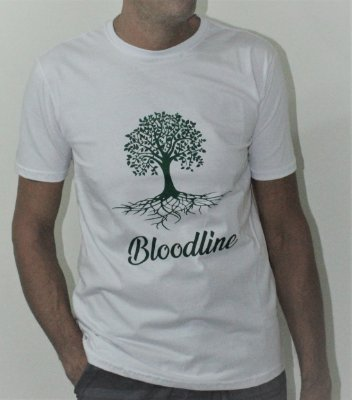 Camiseta Masculina - Bloodline Branca