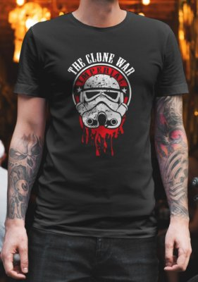 Camiseta Capacete Stormtrooper Sangue - Star Wars