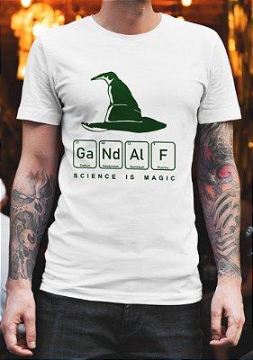 Camiseta Science is Magic - Gandalf