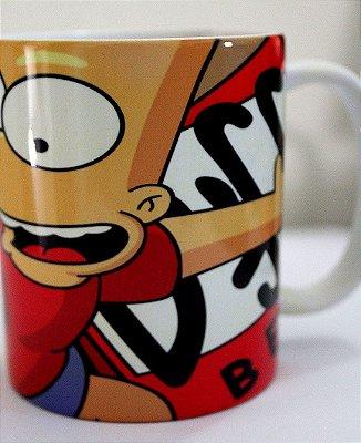 Caneca Porcelana - Bart Simpson