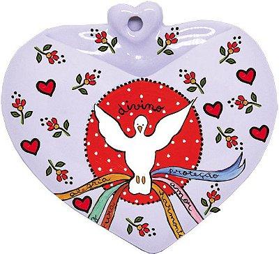 Vaso de Parede Coração Divino Espírito Santo - Santeiro