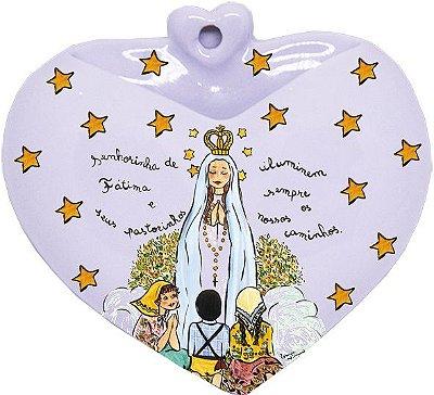 Vaso de Parede Coração N.S. de Fátima - Santeiro