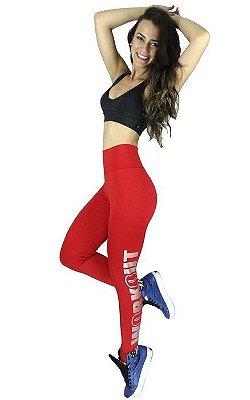 Calça Legging Suplex Com Silk Fitness