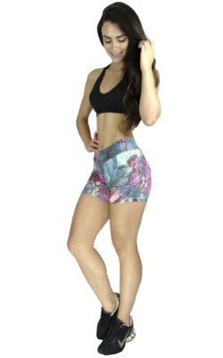 Short Curto Suplex Estampado Fitness