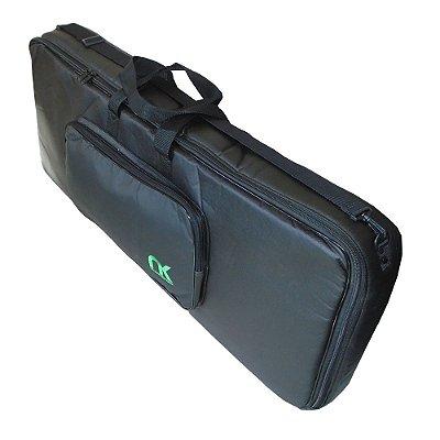 Capa Bag Teclado 6/8 Compacto Couro Reconstituído Preto NewKeepers