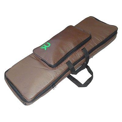 Capa Bag Teclado 5/8 Compacto Couro Reconstituído Marrom NewKeepers