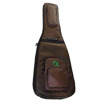 Capa Bag Violão Folk Couro Reconstituído Marrom NewKeepers