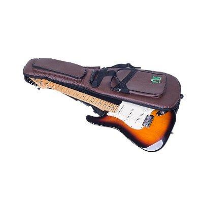 Capa Bag Couro Reconstituído Marrom Guitarra NewKeepers